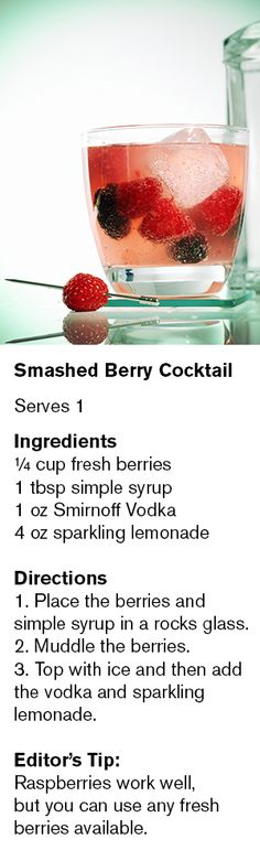 Smashed Berry Cocktail