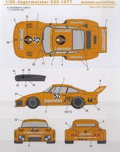 Porsche 935 1977 Le Mans, Porsche 911, Paper Model Car, Classic Race Cars, Vintage Porsche, Blue Prints, Cabriolet, Car Drawings, Indy Cars