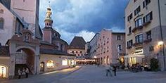 Hall in tirol oberen stadtplatz with the Rathaus in the distance and partial view of the church where i was baptised and had my holy communion . Hall In Tirol, Tirol Austria, Travel Information, Plan Your Trip, Halle, Around The Worlds, Street View, Mansions, House Styles