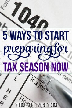 Take the stress out of tax season by getting prepared early. Check out these 5 things you can start doing now to get ready for tax season. Tax Refund, Tax Deductions, Tax Help, Finance Organization, Organizing, Make Money Now, Money Fast, Tax Preparation, Stressed Out