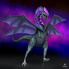 Amethyst Dragon by Visjon on DeviantArt