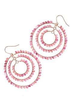 rose gold plated tourmaline #earrings I designed by iris y. for NEW ONE I NEWONE-SHOP.COM