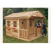 Found it at Wayfair - Sunflower Playhouse with 3 Functional Window and Cedar Deck Porch
