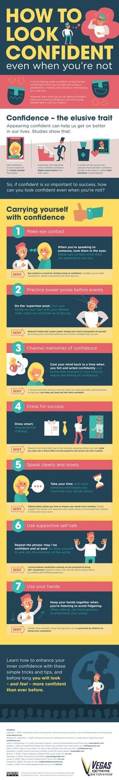 How to Look Confident Even When You're Not [Infographic] | Daily Infographic