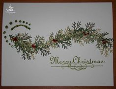 card using Martha Stewart branch punch