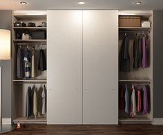 Manufactured and installed by Urban Wardrobes. Painted Wardrobe, Built In Wardrobe, Small Rooms, Small Spaces, Door Organizer, Wardrobe Doors, Sliding Doors, Wardrobes