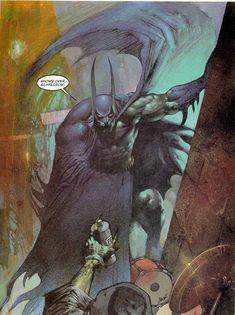 Batman talks by Simon Bisley