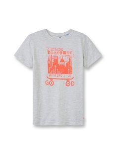 T-shirt à message - Gris marbre - Nos sélections - Obaïbi & Okaïdi