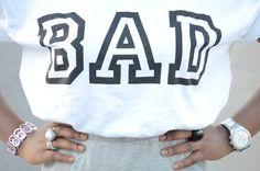 bad printed tshirt and