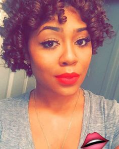 "Red lip using MAC ""Ruby Woo"" and Ardell stacked lashes in #206 // Candice O Beauty"