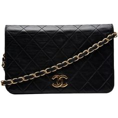 Chanel Vintage Single Flap Bag ($2,200) ❤ liked on Polyvore