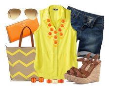 """Summer Citrus"" by qtpiekelso ❤ liked on Polyvore featuring Kate Spade, Fat Face, Mossimo and Ray-Ban"