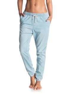 roxy, Easy Beachy - Pantalon de jogging en denim, LIGHT BLUE (bffw)