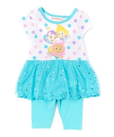 Loving this White Bubble Guppies Dress & Leggings - Infant & Toddler on #zulily! #zulilyfinds