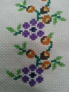 Discover thousands of images about Elişilerim Small Cross Stitch, Cross Stitch Borders, Cross Stitch Designs, Cross Stitch Patterns, Drawn Thread, Embroidery Needles, Needle And Thread, Bookmarks, Needlework