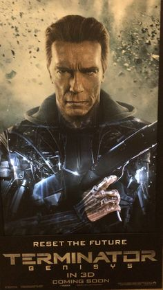 Cool Terminator poster.  It's digital and as the light scans up you see the exoskeleton.  I'll try and get a video up soon.