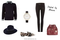 Collar sweater and leopard flats outfit - Style by Manon