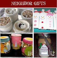 Great Gift Ideas to make for neighbors, teachers, my favorite banker, and grocery checker, etc!