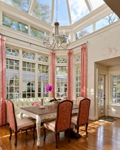"""Thinking of turning 'living room' into dining room..putting living room furniture in den..den furniture in family room..but after seeing this picture, may leave English sofa in """"New"""" dining room at the table. Hmmm, now have to rethink all the furniture moving around. LOL1"""