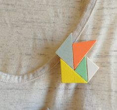 multicolor geometric brooch  http://www.etsy.com/listing/93476158/multicolor-wood-geometric-brooch-in