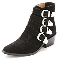 Women's Buckled Suede Booties *** Read more at the image link. (This is an affiliate link) #AnkleBootie