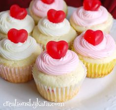 Cherry Cheesecake Cupcakes-- cute for Valentine's Day!