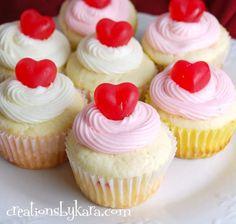 Valentine Cherry Cheesecake Cupcakes