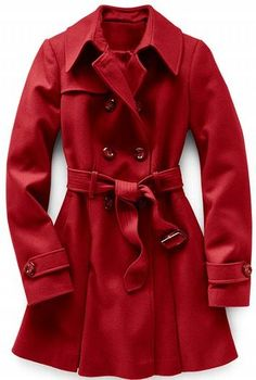 I have a #Castle addiction, which naturally means I want to steal Kate Beckett's closet full of coats and boots. Here is one of those coats - Dark red coat