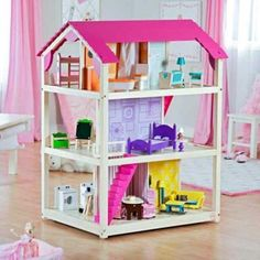 diy bookcase dollhouse dollhouse bookcase kidkraft image of dollhouse bookcase… Dollhouse Bookcase, Bookcase Plans, Dollhouse Toys, Wooden Dollhouse, Dollhouse Ideas, Dollhouse Design, Kids Doll House, Barbie Doll House, Hand Painted Furniture