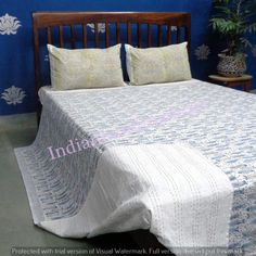 Bedding Quilts, Bedspreads & Coverlets Reversible Multi Color Cotton Quilt Blanket Throw Bed Spread Handmade Razai