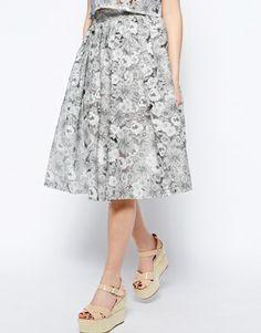 ASOS | Fashion Union cutwork midi skirt | 80% cotton, 20% polyester | £18