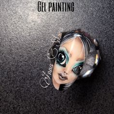 Gel painting face fantasy nail art
