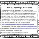 These game cards cover power words for the IRLA reading program. All words from level 1G (kindergarten) to 2R (end of second grade) are included. T...
