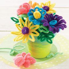 "Super Cute & Colorful DIY ""Pipe-Cleaner"" Spring Flower Bouquet (Via: Jo-Ann Fabric) ♡♥♡♥♡♥"