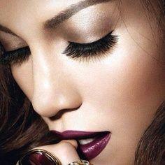 Bronzed Eye and Purple Lip.