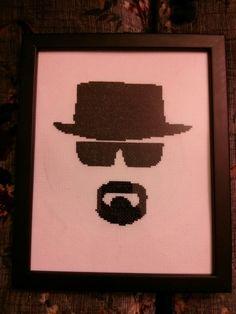 Heisenberg Walter White cross stitch Breaking Bad