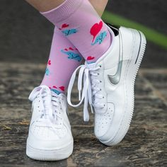 We're spreading the love with our cute Ellie Socks. These Gigantic Gentle Grey Giants are Trumpeting big pink hearts out their Trunks and we love them. Grab yourself a pair, we won't go Large and Charge you too much. Funky Socks, Cool Socks, Elephant Socks, Unique Socks, Sock Shop, Pink Hearts, Sport Socks, Adidas Stan Smith, Nike Air Force