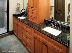 Dual sinks are perfect for busy mornings! The Riva Ridge #5013