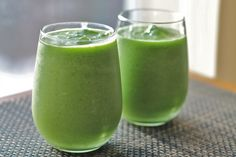 * tropical green smoothie