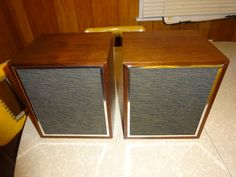 Vintage 1970's Eight Track Speaker Pair - FREE SHIPPING