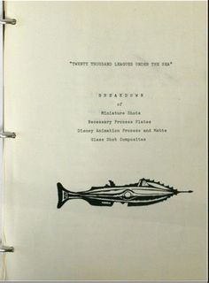 The cover of the miniature shots plan featured a nice Nautilus profile drawing.