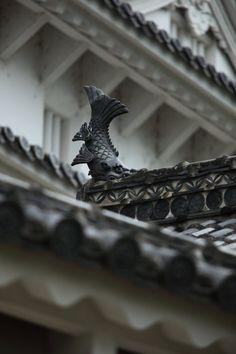 Roof detail of Himeji Castle, Japan