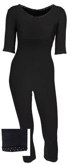 Jumpsuit in organic cotton-jersey http://www.ecouture.dk/yogasuit-black.html?___store=gb&___from_store=gb The Yoga Jumpsuit is made from organic cotton-jersey: 95% organic cotton/ 5% elastan, which makes it very flexible. The jumpsuit has a classic Ecouture-twist with it's fine details and dotted piping. The neckline is both feminine but not too exposed in a good balance. The legs have a great fit and it is very comfortable to wear.
