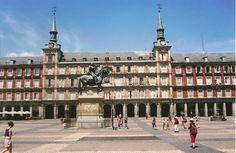 Plaza Mayor Plaza, Madrid, Louvre, Building, Travel, Viajes, Buildings, Destinations, Traveling