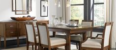 Suede Dining Room Furniture :: Broyhill Furniture at DAWS Home Furnishings in El Paso, TX