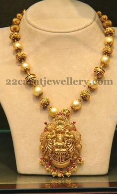 Temple Jewellery with Lakshmi | Jewellery Designs
