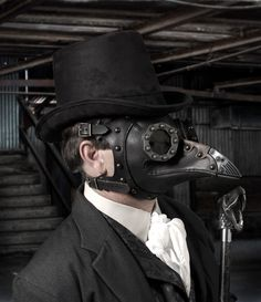 """Steampunk Plague Doctor Mask """"Dr. Beulenpest"""" by TomBanwell on Etsy https://www.etsy.com/listing/202217072/steampunk-plague-doctor-mask-dr"""