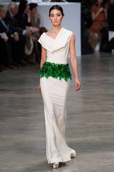Love the dress, not so much the grass thing though - Stephane Rolland Spring 2013 Couture