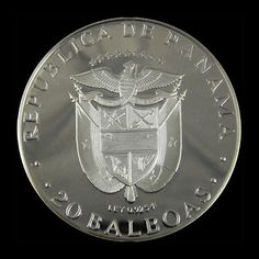 1974 Republic of Panama 20 Balboa Proof Coin. $229.50 USD Only 1 available