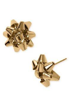Kate Spade Christmas Bow Earrings